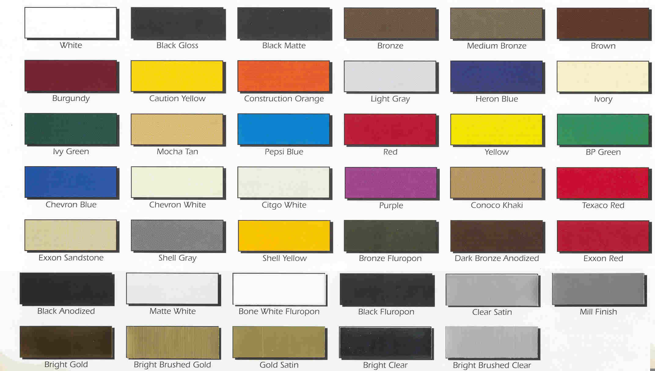 Freightliner Color Chart for Trucks